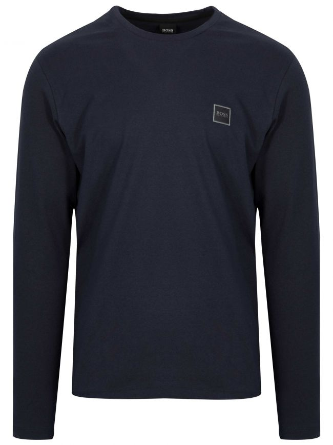 Navy Tacks Long Sleeve T Shirt