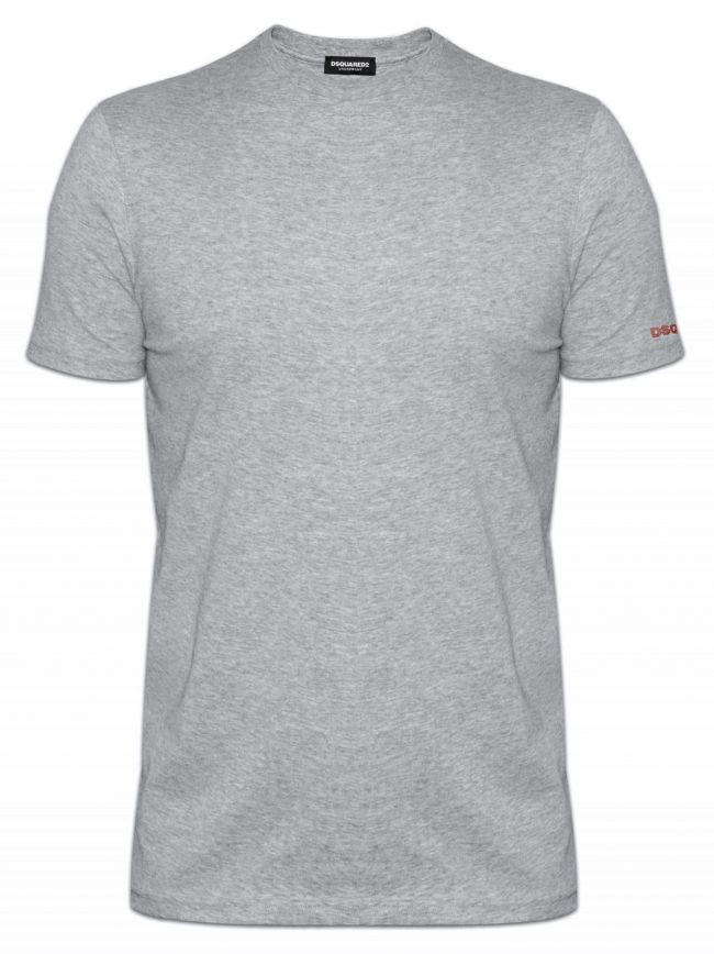 Slim Fit Light Grey Crew Neck T-Shirt