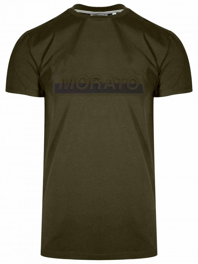 Raised Logo Green Short Sleeve T-Shirt