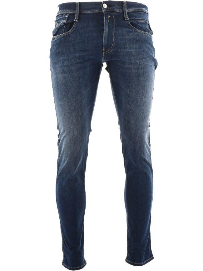 Navy Hyperflex Re-Used Anbass Slim Fit Jean
