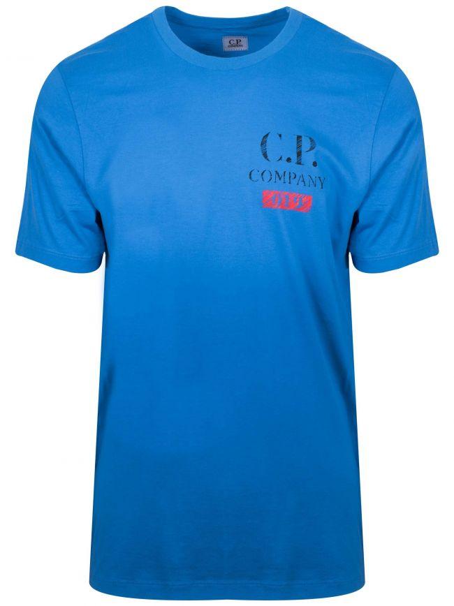 Blue Print Logo T-Shirt