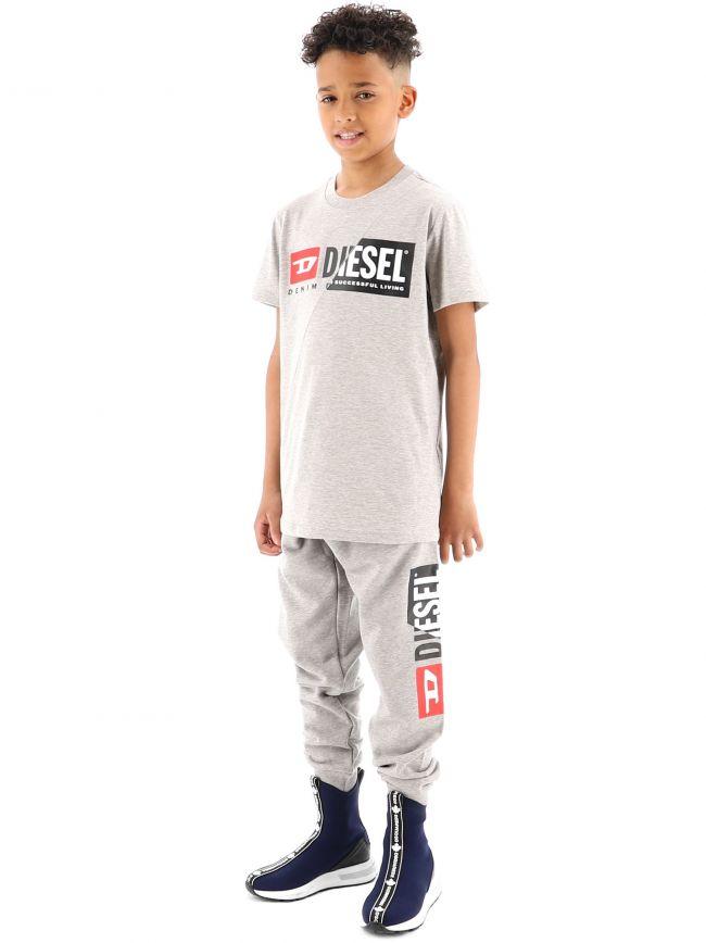 Diesel Kids Grey Diego Cuty T-Shirt