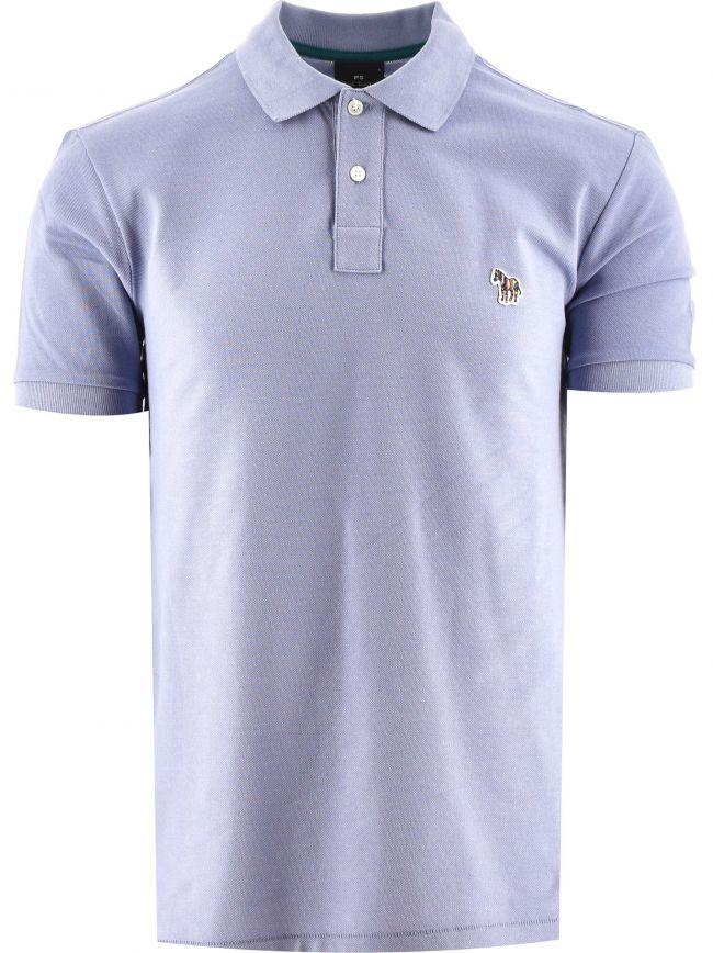 Pale Blue Regular Fit Short Sleeve Polo Shirt