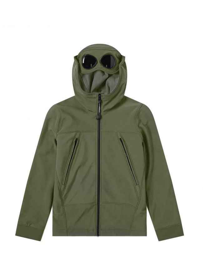 Sage Green Goggle Hood Soft Shell Jacket