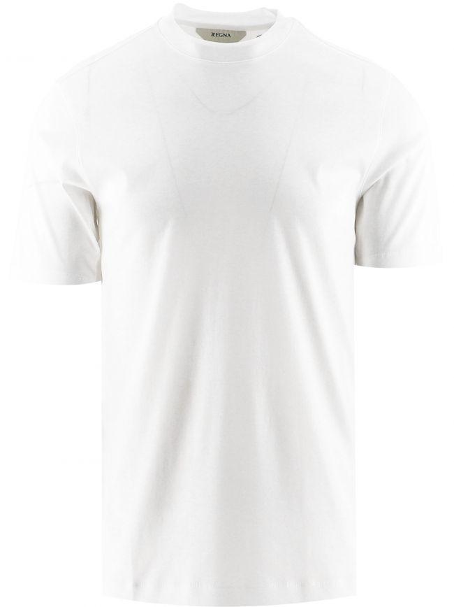 White Short Sleeve Plain T-Shirt