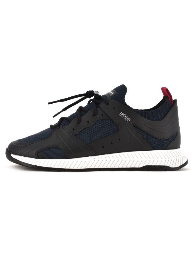 Navy Titanium Runner Sneaker