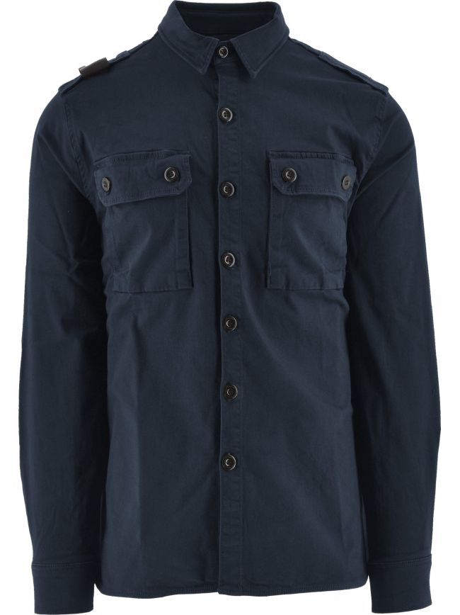 True Navy Two Pocket Overshirt