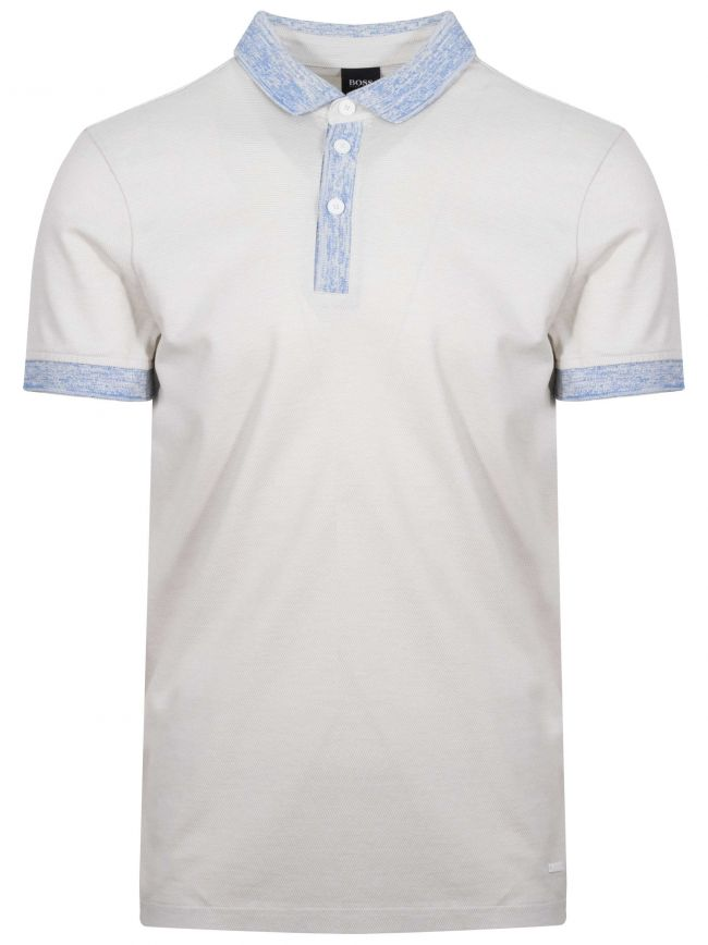 Punch White Pique Polo Shirt