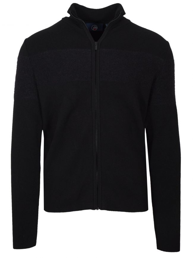 Black 'Frosty' Zip Sweatshirt