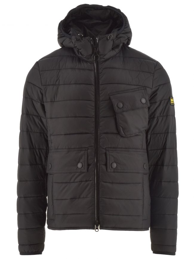 Black Ouston Hooded Quilted Jacket