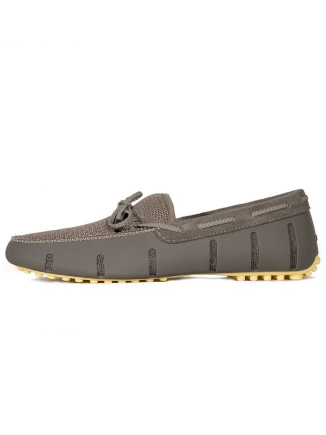 Khaki Braided Penny Lux Driver Loafer