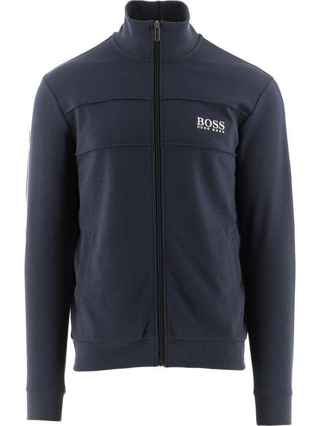 Dark Blue Lightweight Zip-Up Jacket