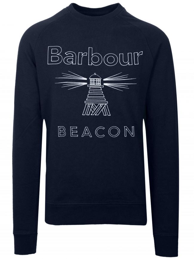 Navy Blue Logo Sweatshirt
