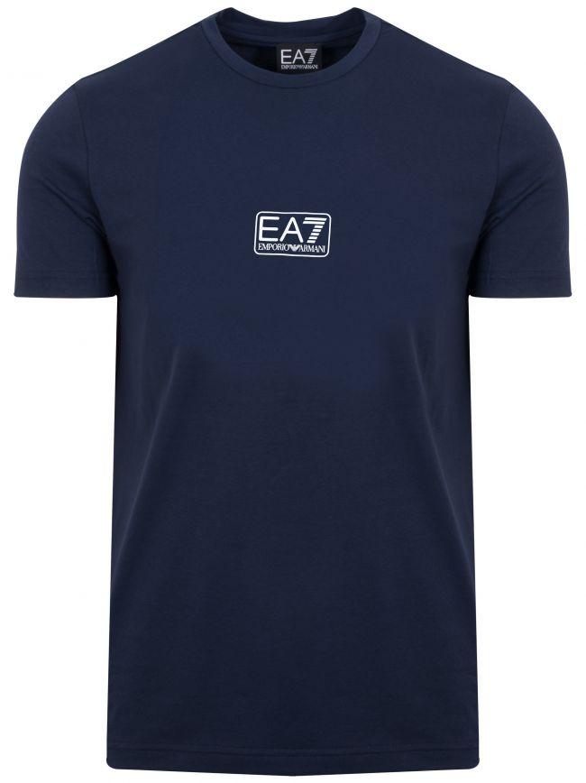 Navy Center Logo T-Shirt