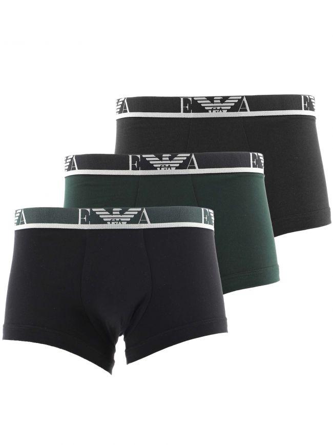 Black Green 3-Pack Boxer