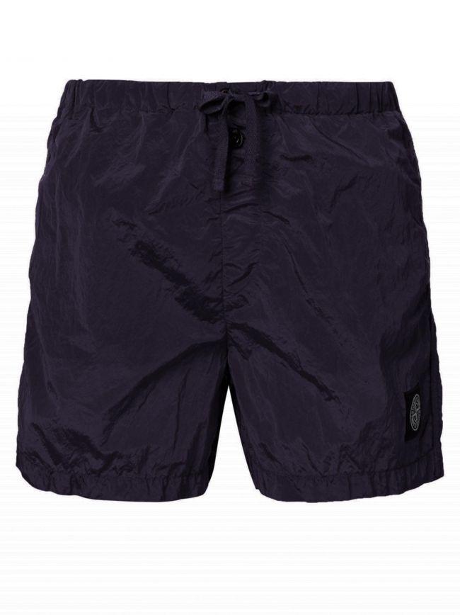 Dark Purple Patch Logo Swim Short