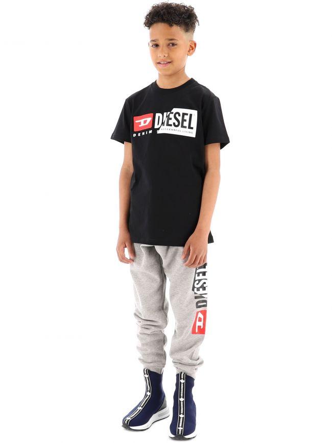 Diesel Kids Black Diego Cuty T-Shirt