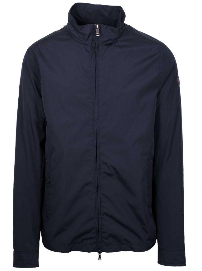 Navy Blue Lightweight Blouson Jacket