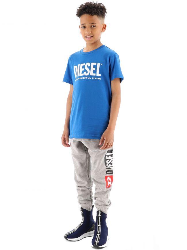 Diesel Kids Blue Just Logo T-Shirt