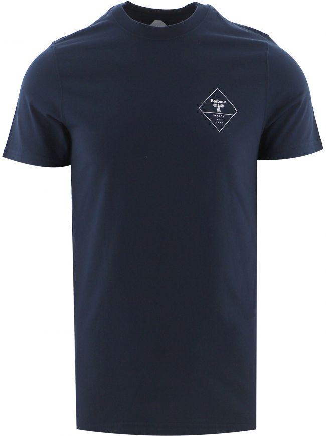 Navy Box Logo T-Shirt