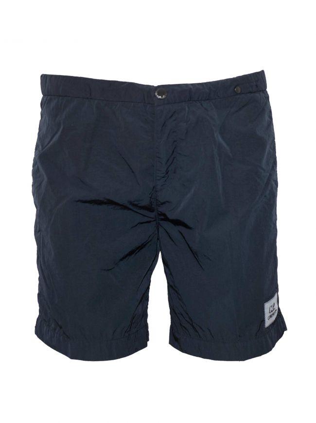 Navy Blue Chrome Swim Short