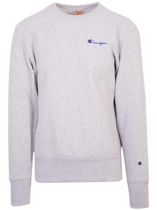 Reverse Weave Grey Melange Logo Sweatshirt