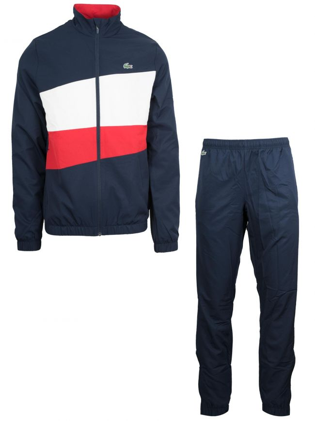 Red, White & Navy Colour Block Tracksuit