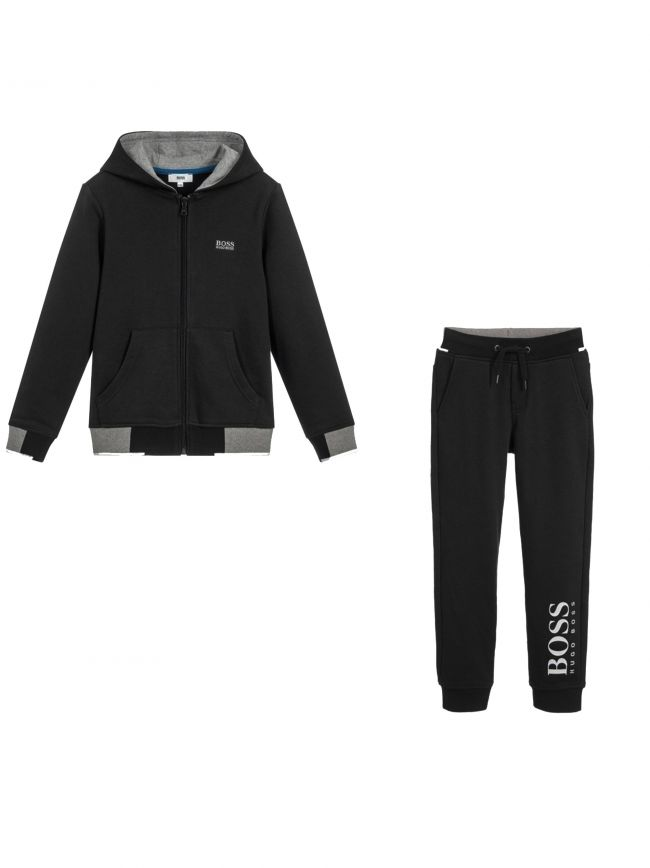 Black & Grey Cotton Tracksuit