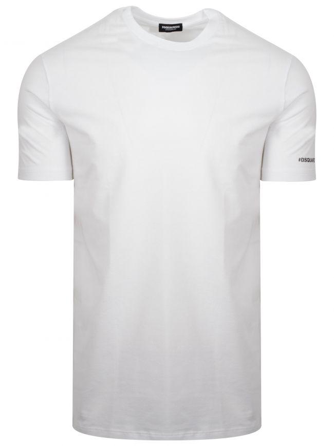 White Hashtag Logo T-Shirt