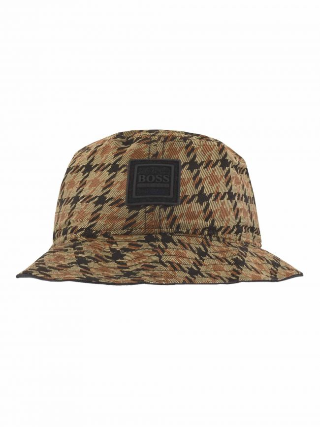 Beige Fox Bucket Hat