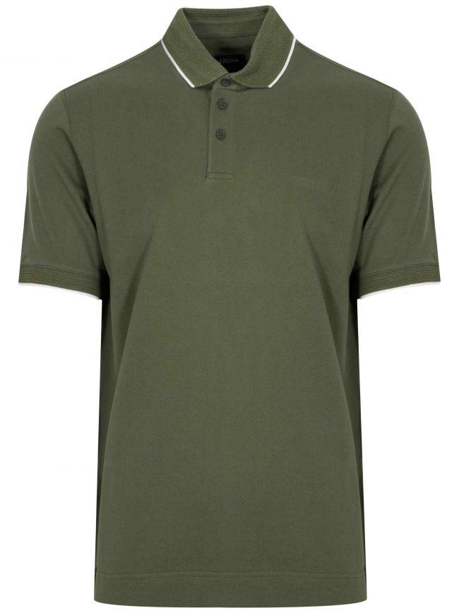 Green Short Sleeved Polo Shirt