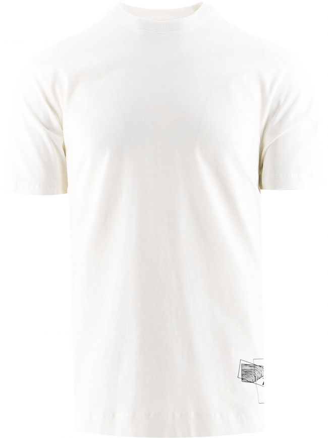 White Short Sleeve Jersey Print T-Shirt