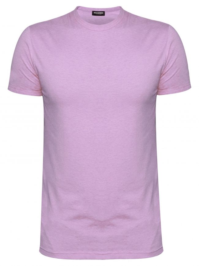 Slim Fit Pale Pink Crew Neck T-Shirt
