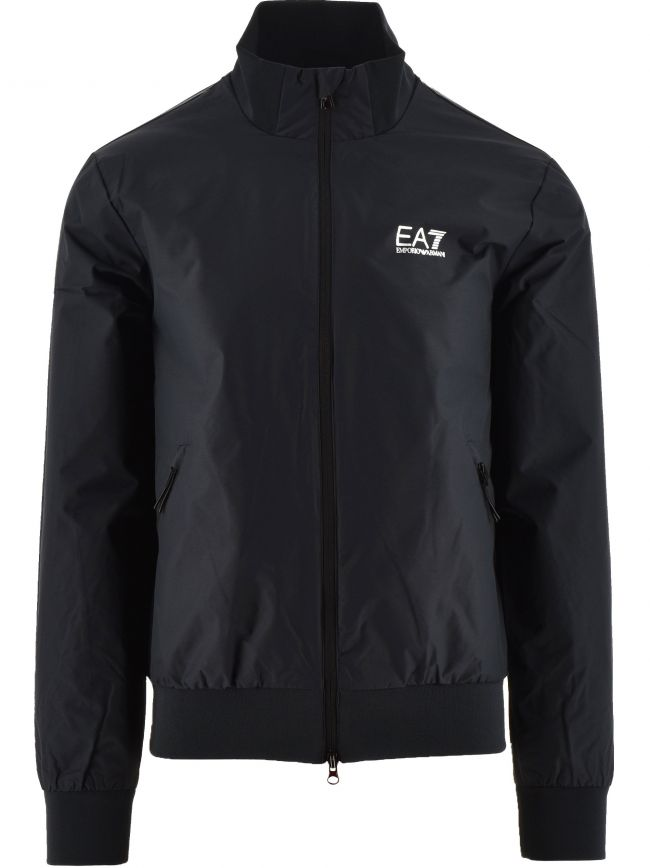 Blue Regular Fit Bomber Jacket