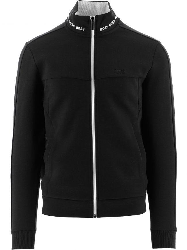 Black Skaz 1 Contrast Zip-Up Sweatshirt