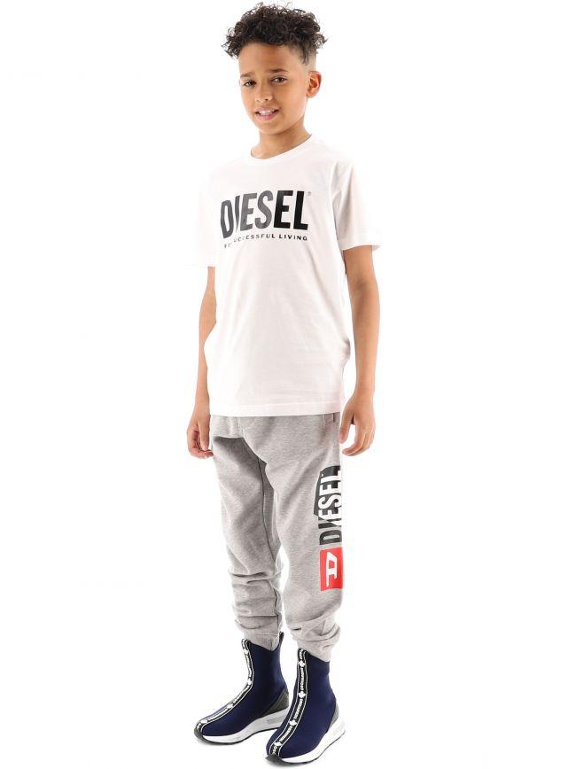 Diesel Kids White Just Logo T Shirt