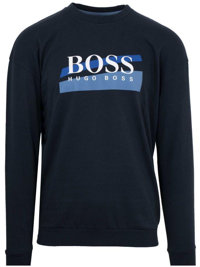 Navy Crew Neck Logo Sweatshirt
