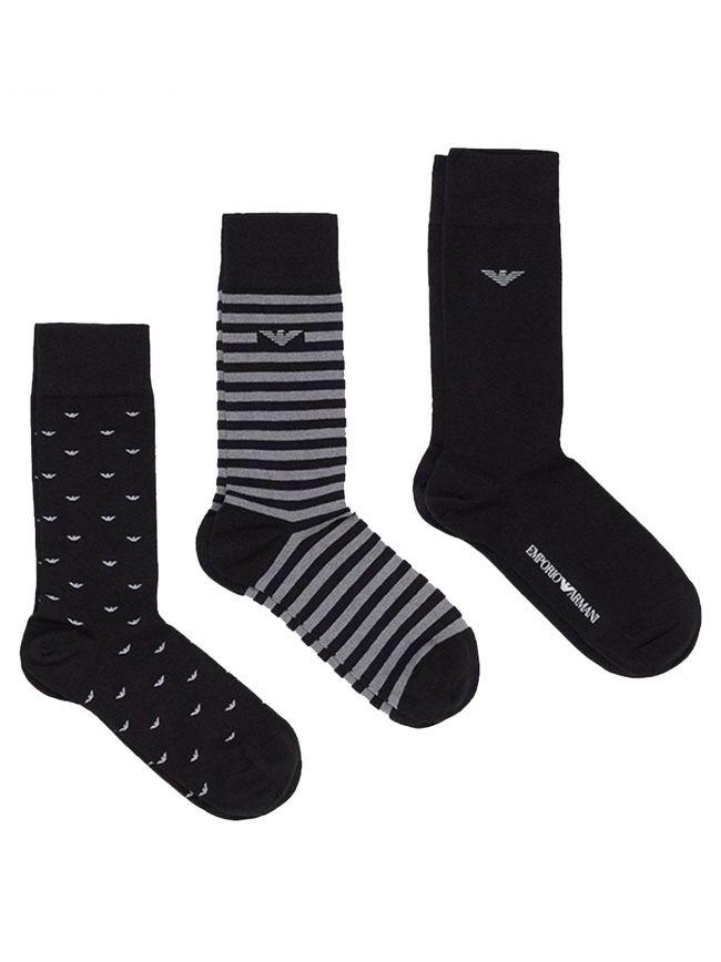 Logo 3-Pack Socks