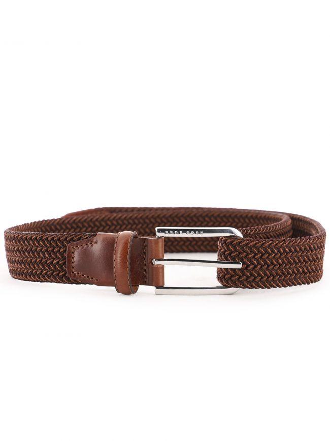 Brown Woven Elastic Belt