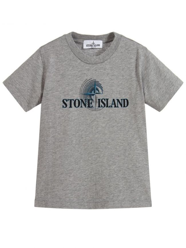 Grey Printed Logo T-Shirt