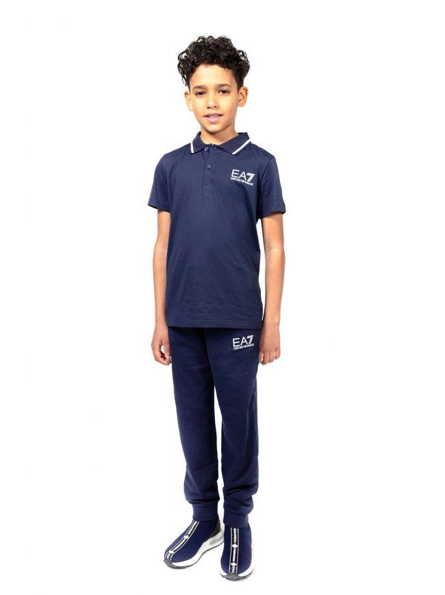 EA7 Kids Navy Logo Polo Shirt