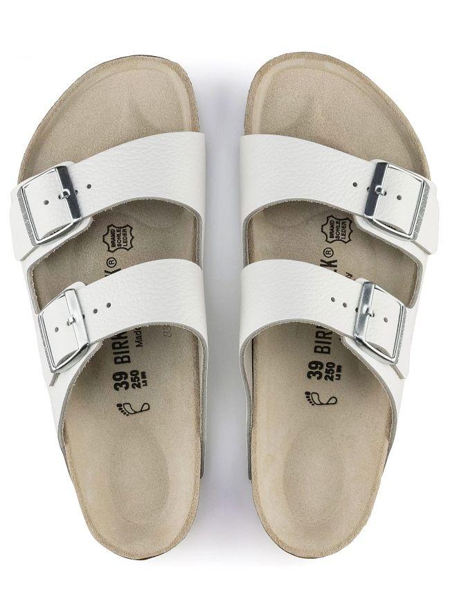 White Arizona Leather Sandal