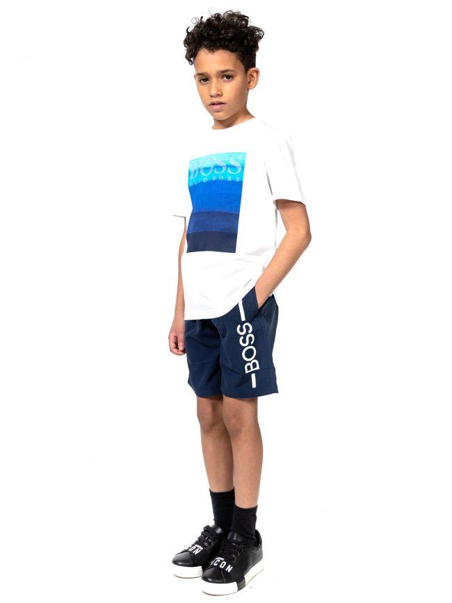 BOSS Kids White Graphic Print T-Shirt