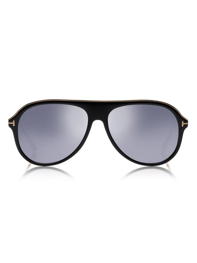 Shiny Black & Gold Nicholai Sunglasses
