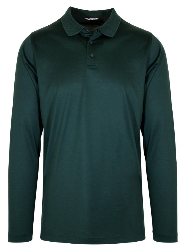 Green Contrast Collar Polo Shirt