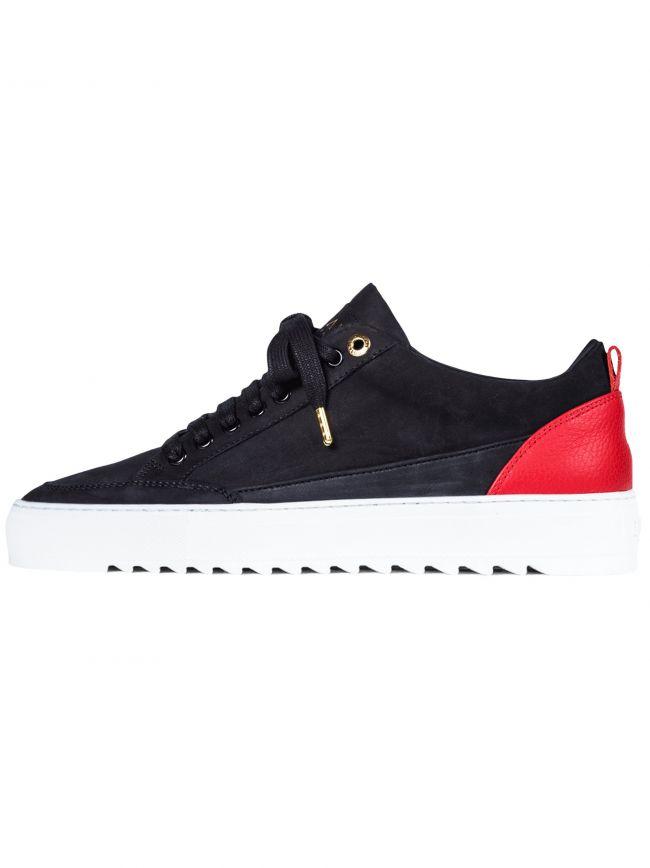 Black Tia Nubuck Red Heel Sneaker