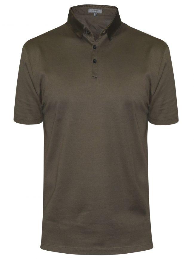 Dark Grey Grosgrain Slim Fit Piquí© Polo Shirt
