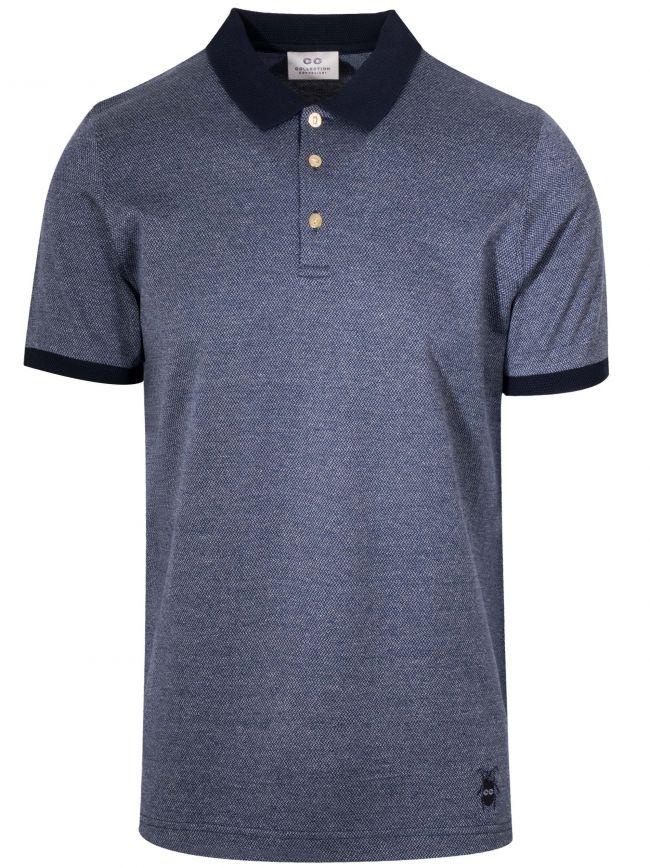 Dark Blue Weaved Polo Shirt
