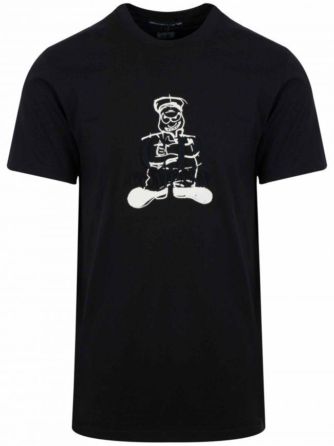 Black 'Comics & Cars' Logo T-Shirt