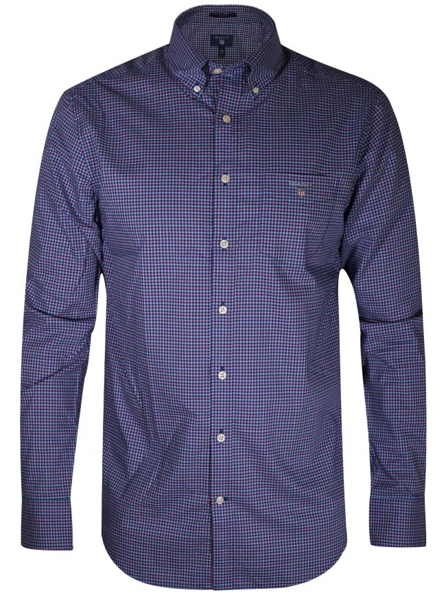 Yale Blue Gingham Long-Sleeve Shirt